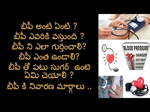 BLOOD PRESSURE || High blood pressure (hypertension)| BLOOD PRESSURE||Telugu Inti Andam | [TELUGU]