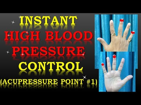 Acupressure Points for High Blood Pressure (Instant High BP Control)-(Hindi with English Subtitles)