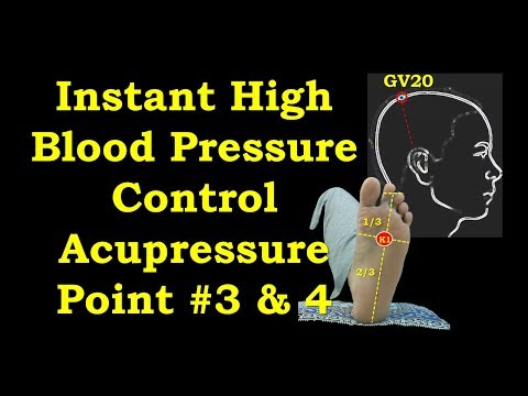 Acupressure Points for High Blood Pressure -Point #3 & #4, (In Hindi with English Subtitles)